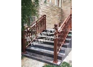 铝艺楼梯扶手安装