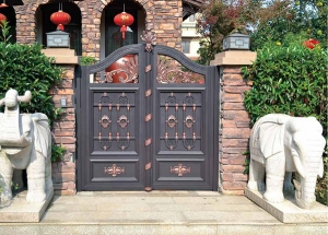 鄂尔多斯铝艺庭院大门